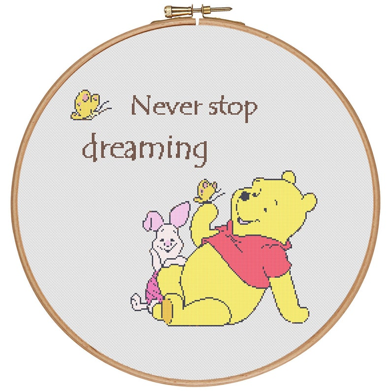 Children-Kids-Needlepoint MORE for FREE Counted Cross stitch pattern PDF-Instant Download-Cross Stitch Pattern #1609 Winnie the Pooh