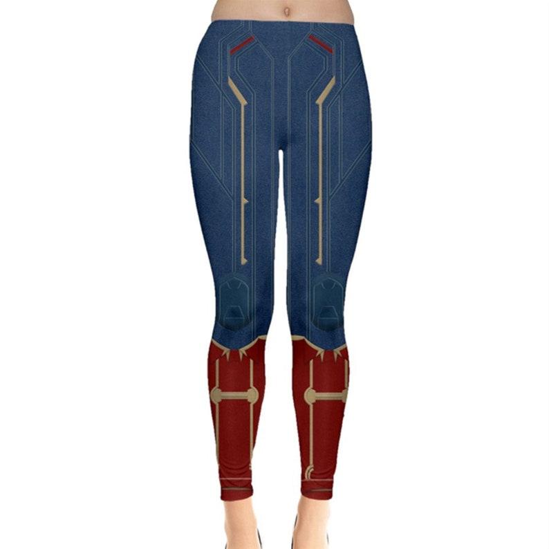 Captain Marvel Leggings Captain Marvel Costume Avengers image 0