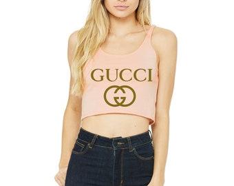 d612efcbfaf61f Womens Inspired Gucci Crop Tank