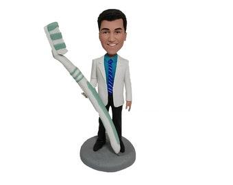 Bobbleheads doctor,custom dentist bobblehead,dentist gift,dentist graduation gift,polymer clay,houseman, Stomatology,pharmacist gift
