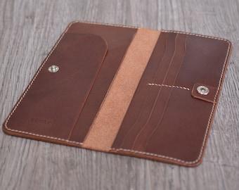 """Long leather wallet """"BMS"""" PDF pattern"""