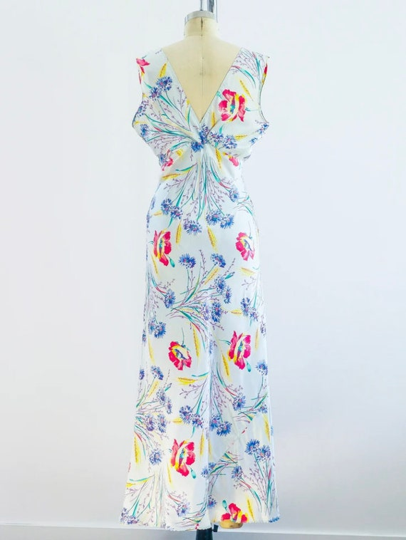 1930's Floral Slip Dress - image 3