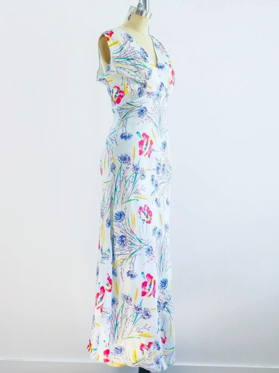 1930's Floral Slip Dress - image 2