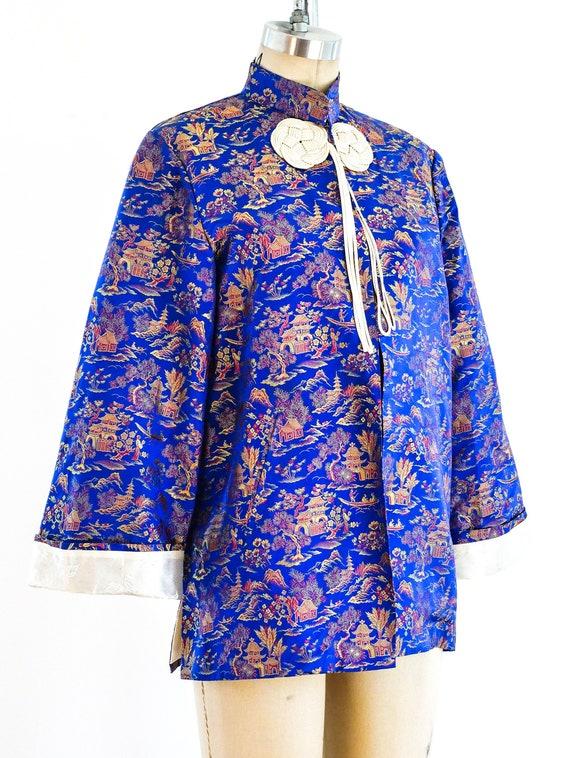 Vintage 60s Chinese Pagoda Brocade Jacket