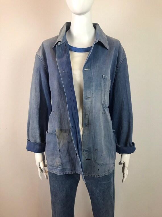 Indigo Work Shirt • Utilitarian Work Shirt •Vinta