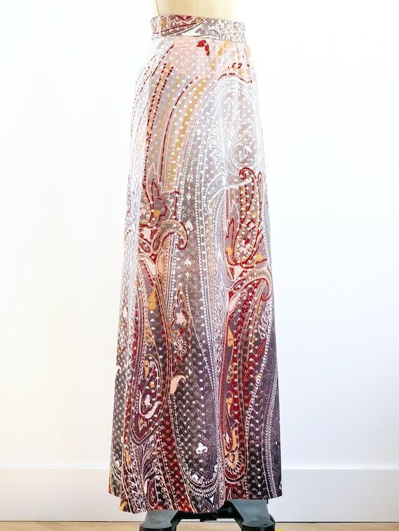 Metallic Dot Paisley Maxi Skirt - image 2
