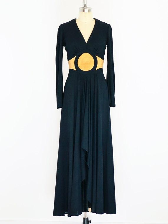 1970's Mr Boots Crepe Dress
