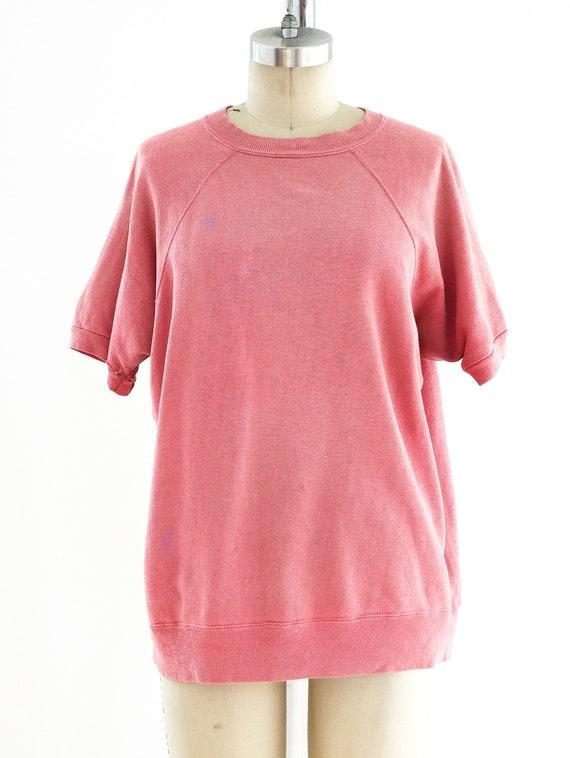 1960s Coral Short Sleeve Sweatshirt