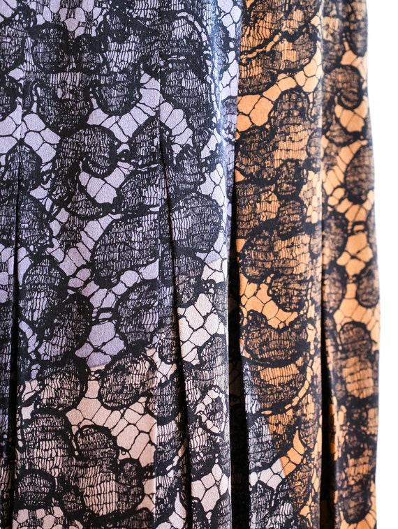 vintage 1990s Escada Lace Printed Midi Skirt - image 2