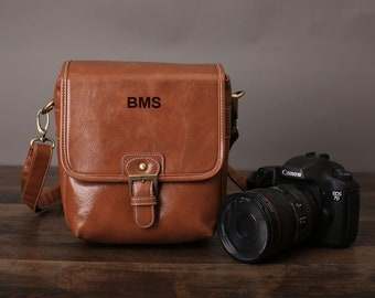 a7686dac9ef Personalized Leather Camera Bag, DSLR Camera Bag, SLR Bag, Digital Camera  Bag, Travel Bag, Mirrorless Camera Bag, Gift For Her, Gift For Him