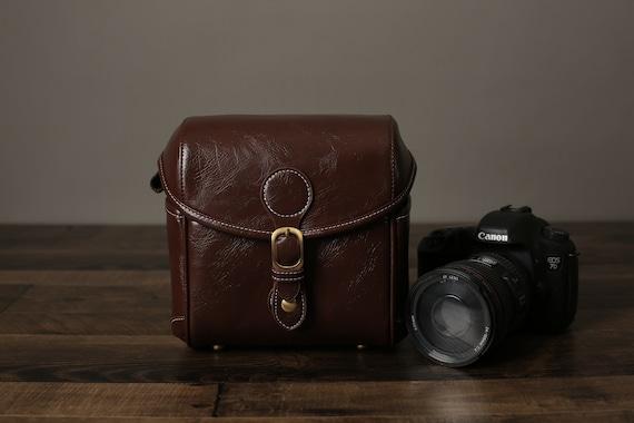 Small Leather Camera Bag Dslr Slr Bag Nikon Camera Case Etsy