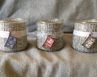 Wedding Vow Candle Holders