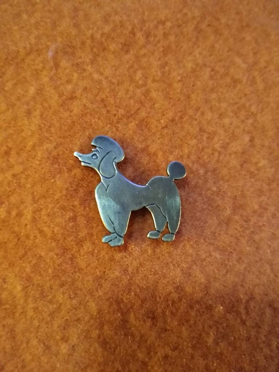 Vintage Beau Sterling silver poodle pin! Hard to f