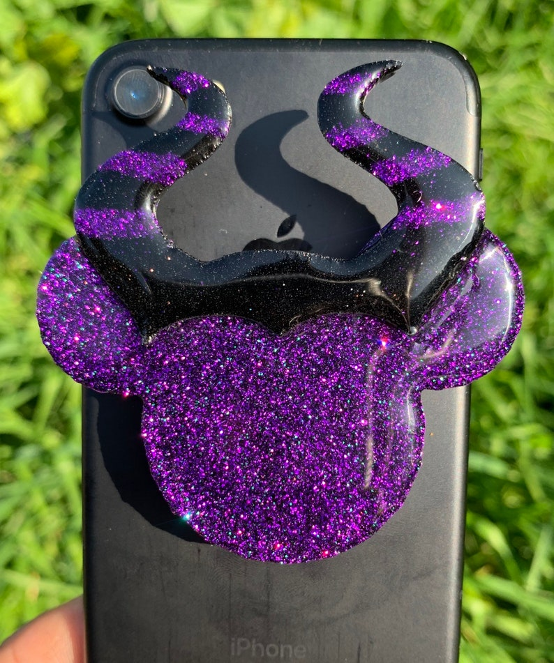 Evil Queen Glitter Popsocket cell phone grip holder and stand