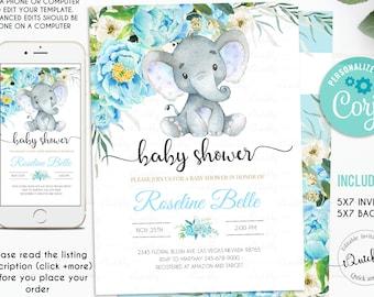 Elephant Baby Shower Etsy