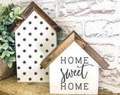 Home Sweet Home House Wood Sign, Farmhouse Sign, Rustic Home Decor, Signs for Home