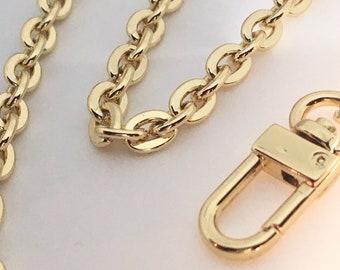 Purse Chain Gold Oval 7mm Crossbody Shoulder Strap for Handbags - 20cm - 140cm