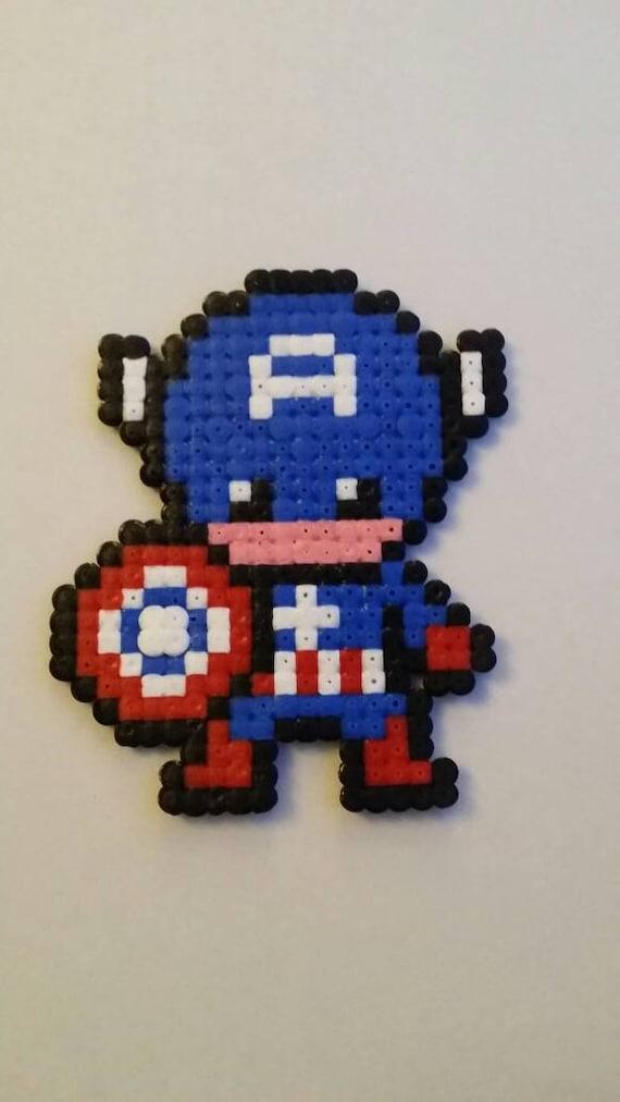 Captain America Hama Beads Etsy