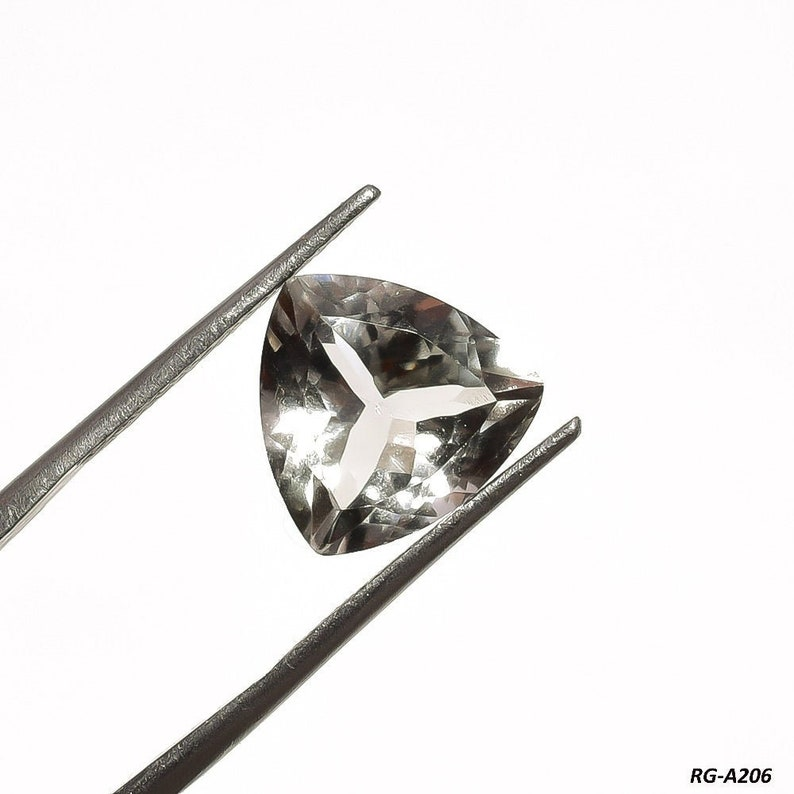12X12X8 mm Trillion Shape Green Amethyst Opal Transparent Gemstone RG-A206 5.3 Cts Natural Green Amethyst Cabochon