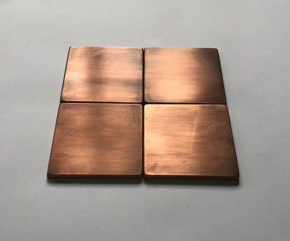 Set Of 4 Handmade Copper Tiles Perfect For Kitchen Etsy