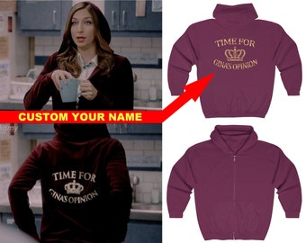 597a9cc0f Time for Ginas Opinion Hoodie Zipup - Custom Name Full Zip Sweatshirt - Brooklyn  Nine Nine Quotes - Brooklyn 99 Gina Linetti Sweater
