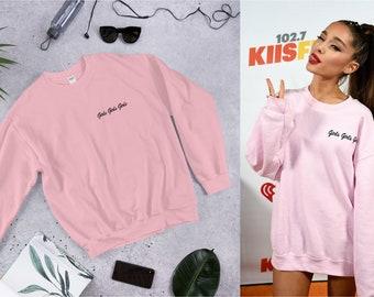 c084a40232e Ariana Grande Sweatshirt Dress - Girls Girls Girls Sweat Pink Pull - Ariana  Grande Concert Pullover - Arianda Grande Sweater Merch for Girl