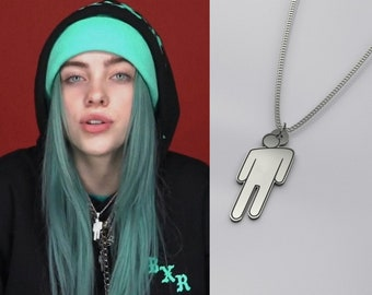 ff242913e6db4 Billie Eilish Necklace Blohsh Charm - Billie Eilish Jewerly Sterling Silver  925 Chain - Eilish Merch Logo Pendant - Eilish Fan Birthday Gift