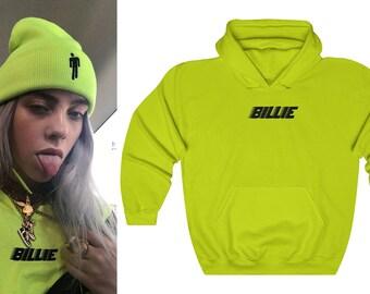 6dd28eb2e73d Billie Eilish Hoodie Neon Green Black Yellow White Concert Sweater - Billie  Eilish Merch Clothing - Eilish Merchandise Apparel   Dress