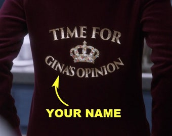 ada8c8952 Time for Ginas Opinion Hoodie Sweatshirt - Personalized Name - Brooklyn  Nine Nine Hoodie - Brooklyn 99 Sweater - Gina Linetti Quote T-Shirt