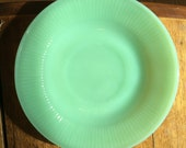 Lot Of 5 Vintage Anchor Hocking quot Fire King quot Ovenware quot Jane Ray quot Jadeite Green Saucers.