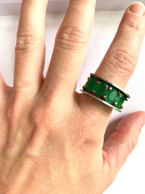 Antique Turkish Emerald Ring