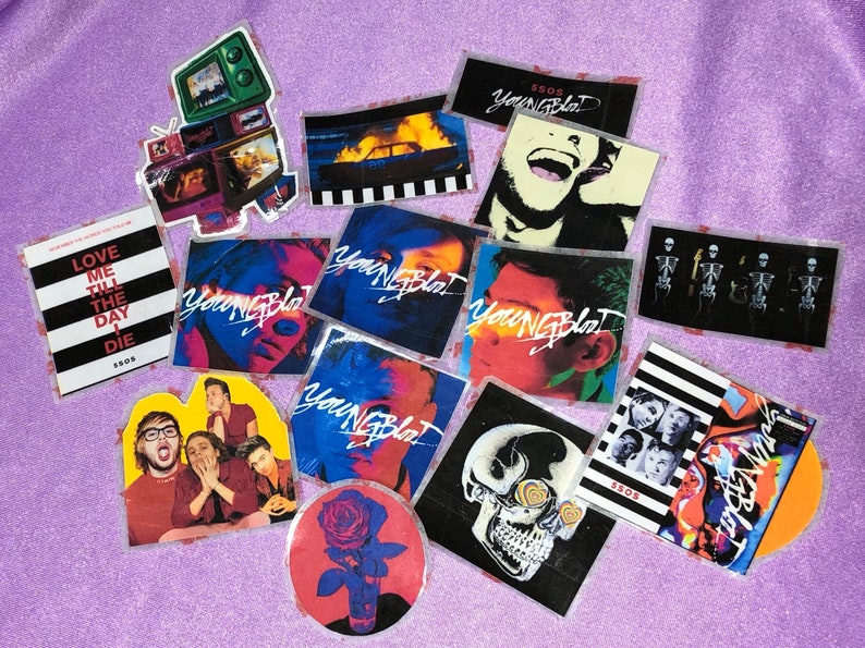 5sos Youngblood sticker set