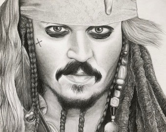 Jack Sparrow Drawing Etsy
