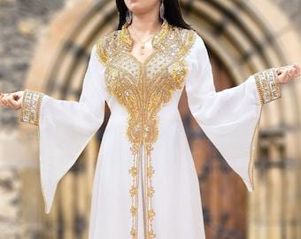 African Kaftan One Size Djellaba Moroccan Kaftan Arabian Abaya Dubai Dress autumn dress