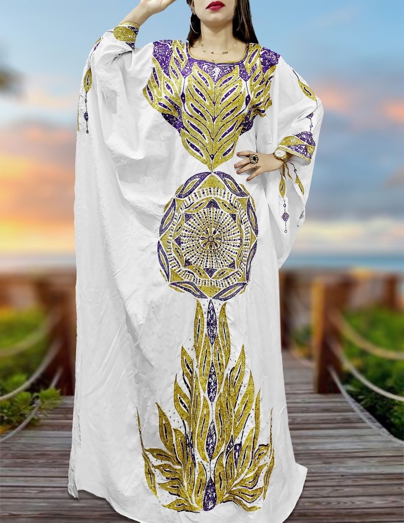 African Attire Floral Designer of Pink Bazin Channel Perlage Golden Beaded Dress Material