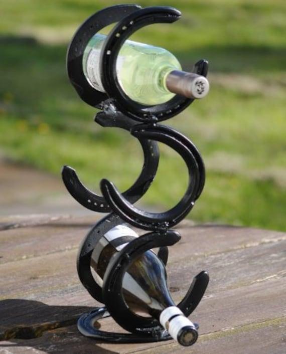 6 Bottle Upright Horseshoe Wine Rack