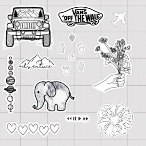 Aesthetic Vsco Stickers Black
