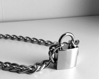 Padlock necklace | Etsy