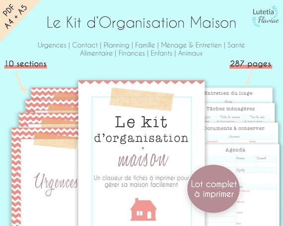 Planning Familial A Imprimer Planificateur Du Menage Taches Etsy