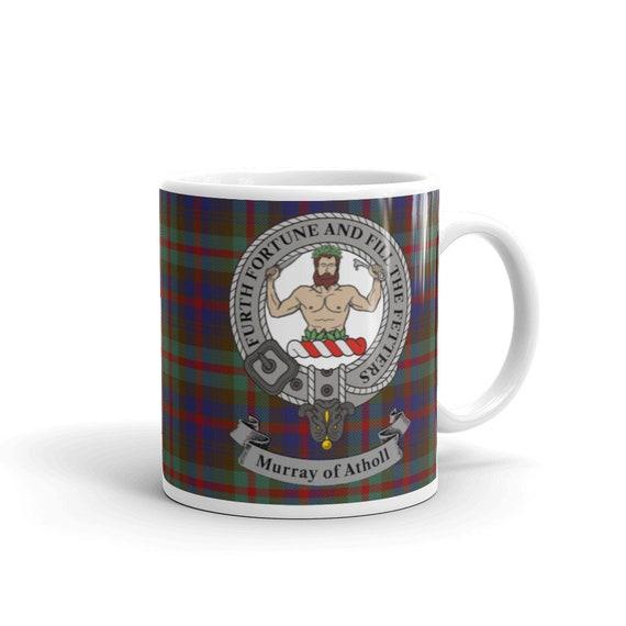 Murray Scottish Clan Tartan Motto Crest Rubber Drink Coaster