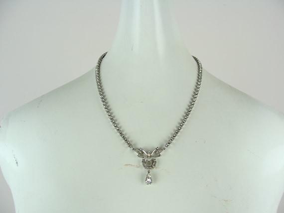 Bridal Necklace Mid-Century Necklace Vintage Necklace Bib Necklace Vintage Rhinestone Necklace Bow Necklace Wedding Necklace