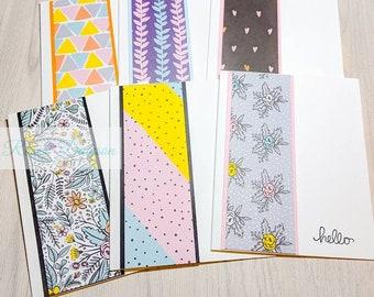 Handmade Greeting Card Set  Gift Set (6)