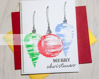 Handmade Christmas Ornament Card
