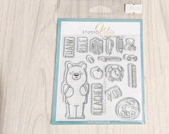Studio Katia Kobi Loves School Stamp Set