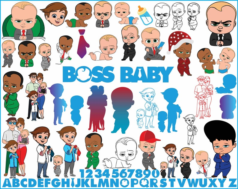 The Boss Baby Svg Bundle The Boss Baby Svg Png Dxf