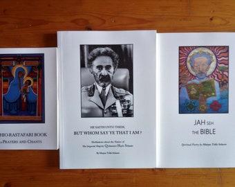 OFFER !!! 3 Rastafari Educational Books with One Shipping Ethiopian Orthodox Faith Spirituality Teachings of Haile Selassie I
