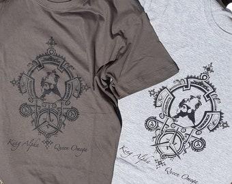 Rastafari T-Shirt King Alpha Queen Omega Raeye Artwork Finest Cotton Rasta Dress Ethiopian Clothes
