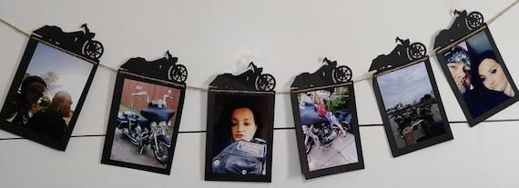 Estandarte de la foto de la motocicleta / Harley Davidson Photo Banner