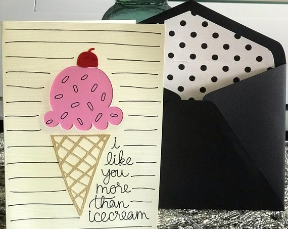 "Ice Cream ""Love"" Card"