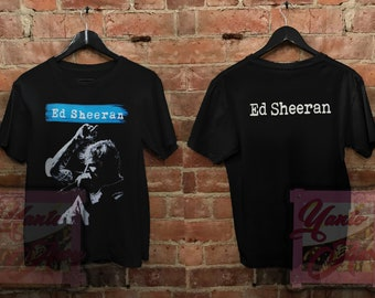 00bfcadecc7 Ed Sheeran T-Shirt Black 2Side Vintage Unisex Adult Clothing